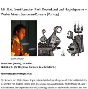 Smart Talks: Gerrit Lembke über Walter Moers in Husum